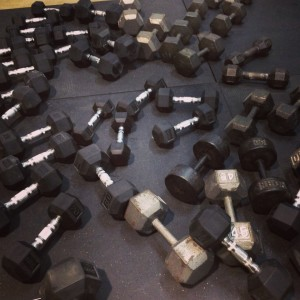 Lots of Dumbbells at Highbar