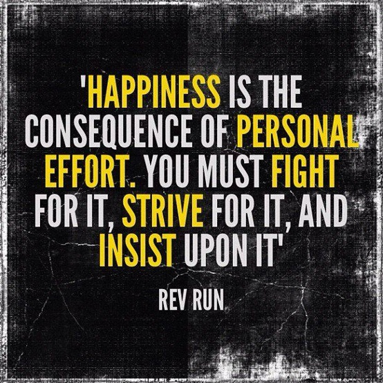 Rev Run Quote on Happiness