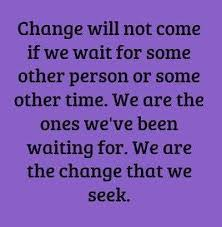 Quote: we are the change that we seek at Livefitandsore.com