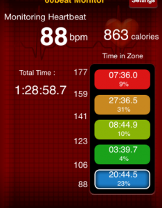 Boxing Heart Rate Data - Live Fit and Sore