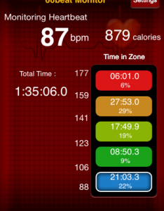 Boxing 9.7.14 Heart Rate Data