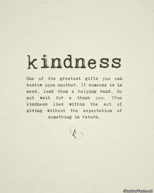 Kindness Benefits the Mind and Body